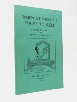 When at Night I Strive to Sleep (Signed copy)