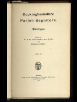 Buckinghamshire Parish Registers; Marriages Vol VI