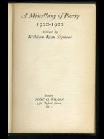 A Miscellany of Poetry 1920–1922 (Signed copy)