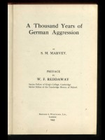 A Thousand Years of German Aggression