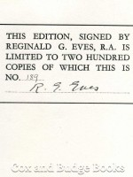 The Art of Reginald G Eves, RA (Signed copy)