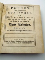 Popery Not Founded on Scripture