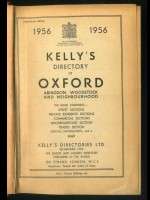 Kelly's Directory of Oxford 1956
