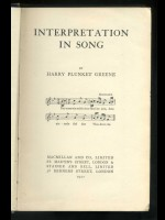 Interpretation in Song (Signed copy)