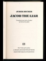 Jacob the Liar (Signed copy)