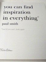 you can find inspiration in everything* (signed copy)