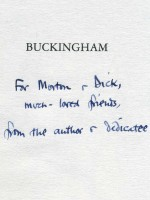 Buckingham, The Life and Career of George Villiers (Signed copy)