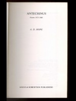 Antechinus, Poems 1975–1980 (Signed copy)