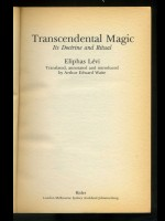 Transcendental Magic; Its Doctrine and Ritual