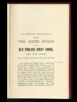 The Old English War-Horse or Shire-Horse (Signed copy)