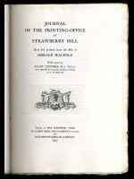 Journal of the Printing-Office at Strawberry Hill