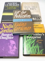 Five Nadine Gordimer first editions