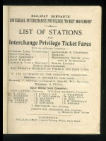 List of Stations and Interchange Privilege Ticket Fares