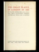 The Great Plague in London in 1665