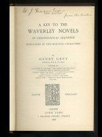 A Key to the Waverley Novels (Signed copy)