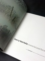 Harry Bertoia; Material and Form