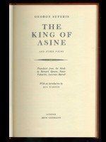 King of Asine and other poems