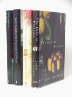 Four John Lanchester signed first editions