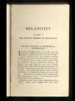 Relativity, The Special and The General Theory, A Popular Exposition