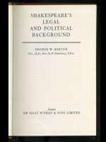 Shakespeare's Legal & Political Background