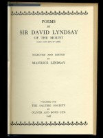 Two books of poetry by Sir David Lyndsay of the Mount