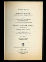 American Notes & Pictures from Italy (Signed copy)