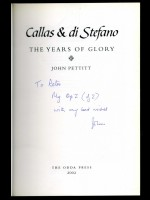 Callas & di Stefano, The Years of Glory (Signed copy)
