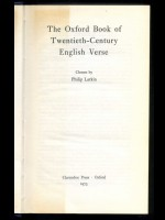The Oxford Book of Twentieth Century English Verse