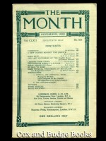 The Month Vol CLXII, No. 833, November 1933