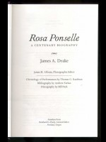 Four books about Rosa Ponselle, American operatic soprano