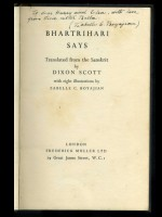 Bhartrihari Says (Signed copy)